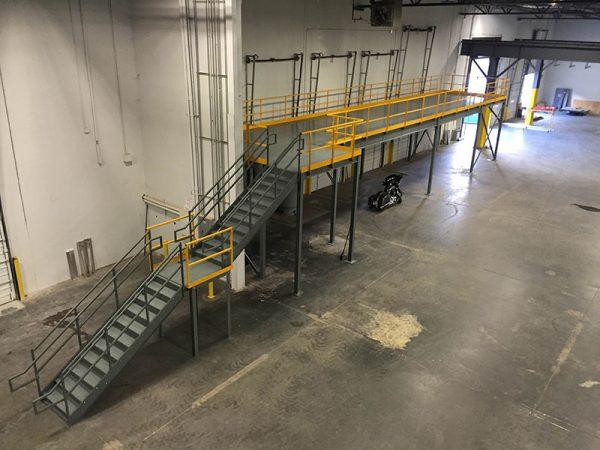 Mezzanines & Work Platforms | Material Handling | Atlantic Installation