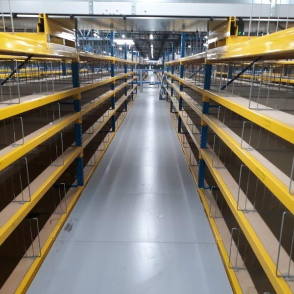 High Density Bin Storage Wire Shelf Dividers Wood Deck